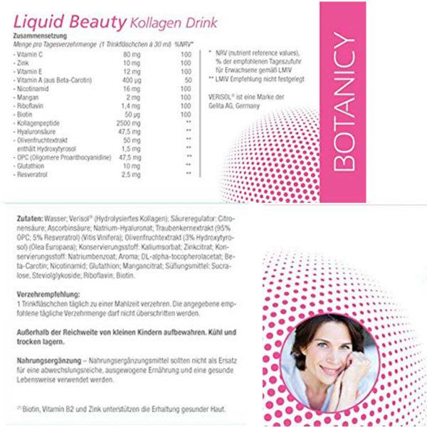 Express Falten Minderung - LIQUID BEAUTY Trink-Kollagen Verisol & Hyaluron - Inhaltsstoffe