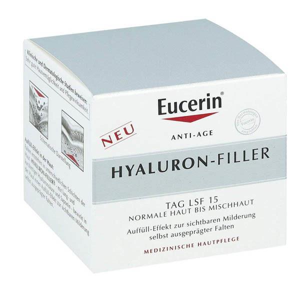 Faltenfiller Gesicht - Eucerin Hyaluron-Filler Tagescreme - Packung