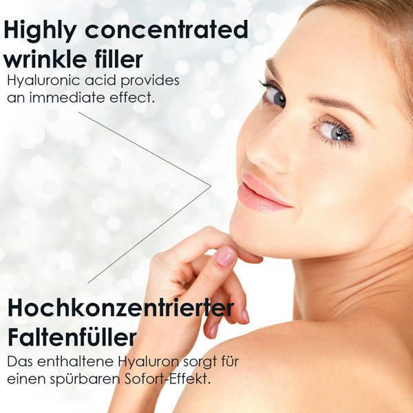 Hautregenerierung, Hyaluron Serum mit Shea Butter, Faltenfüller hocheffektiv