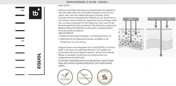 Timeblock Antifalten Serum mit Soforteffekt, Hyaluron-Creme Komplex – unisex, 50 ml - Isoflavone