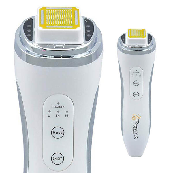 E-Bauty Dermal Faltenglätter, mobiles Punktmatrix RF- Radiofrequenz Therapiegerät - Bedienknöpfe