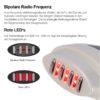 Mobiler RF Apparat – Radiofrequenztherapie, Hautlifting für unterwegs - Wellenlängen
