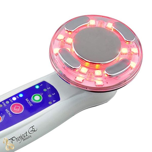 Hautlifting Multifunktionsgerät – LED-Radiofrequenz-Ultraschall & Vibrationsmassage - rotes LED Therapielicht