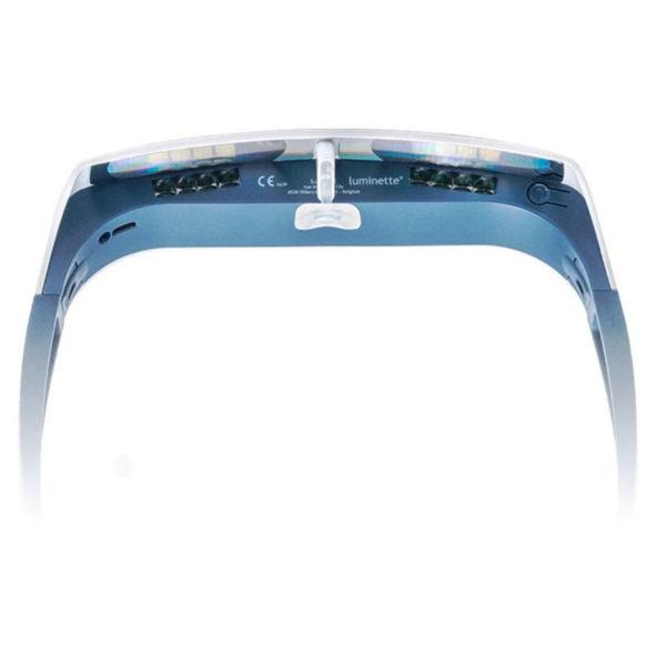 Lichttherapie Brille – AntiAging, Aknereduzierung, gegen Depressionen, für Brillen- & Kontaktlinsenträger geeignet - Innen