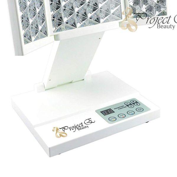 E- Beauty Photon Therapie – faltbares Profi-Home-Spa Tischgerät, LED - Bedienteil