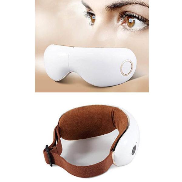 Skandas Augen Massagegerät - Massagebrille mit Vibrations-, Luftdruck- Thermomassage - Aussen und Innen