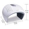 Ganzkörper Lichttherapiegerät, faltbar - 6 Energiespektren, Faszien-Kollagenboosting - Abmessungen