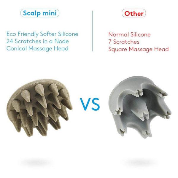 Breo Electric - Design- Kopfhaut Massager, kabellos, Haarausfall vermeiden - 2 verschiedene Aufsätze