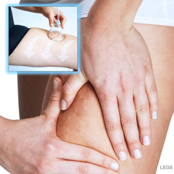 Sensitive Beauty professional - mobiles Anti Aging Vakuum Massagegerät - Anwendung Beine