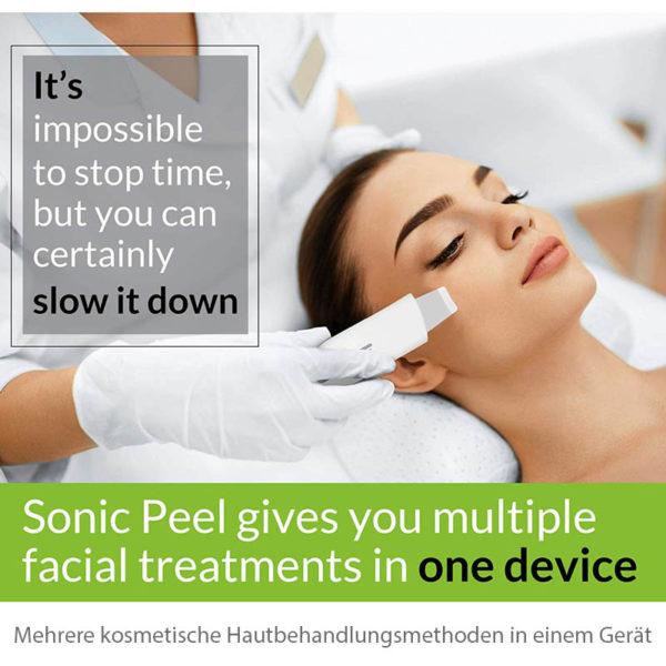 E-Skin Scrubber Sonic Peel - Ultraschall Peeling Gerät - Hautbehandlung