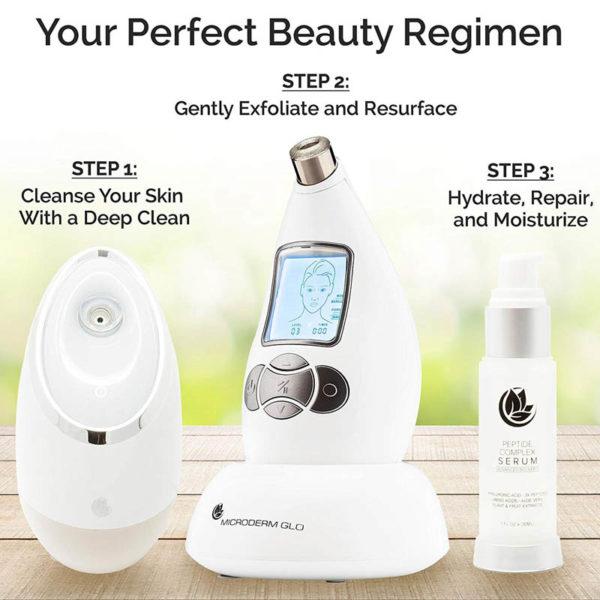 Microderm GLO Diamant System Pro - Homegerät - glatte reine Haut schon nach einer Woche -ideale Hautpflegemittel