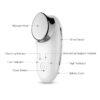 TOUCH Sonic - Gesichtshautglättung, Gesichtsmassagegerät, Vibrations- & Ionentherapie - Bedienkomponenten
