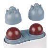 ITM Klopfmassage - Akupressur Massagegerät, mit versch. Köpfen, Wärmefunktion - Aufsätze