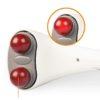 ITM Klopfmassage - Akupressur Massagegerät, mit versch. Köpfen, Wärmefunktion - zuschaltbare Rotlichtfunktion