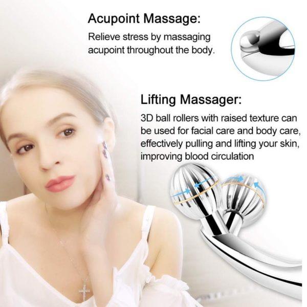 3D Massage Gesichtsroller mit Mikrostrom, Hautstraffung - Wirkprinzip