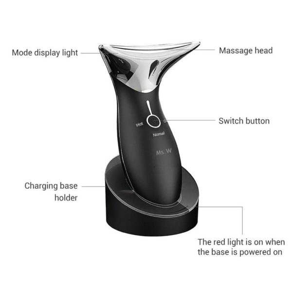 MsW Sonic Hot-Cold-Vibo - Anti Aging Gesichts Massagegerät - Bedienteile