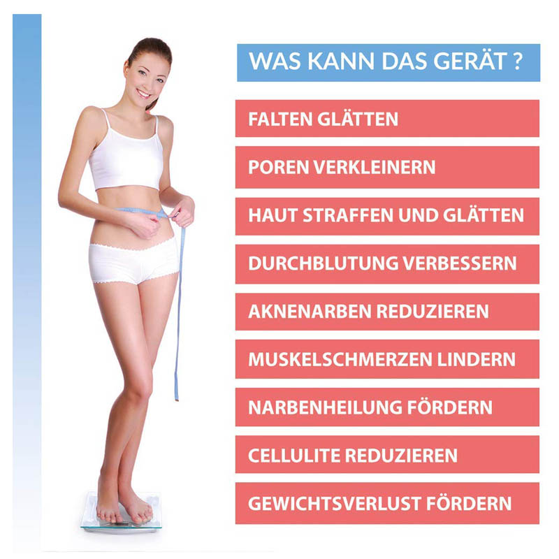 3in1 Fettabbau Massagegerät Ultraschallgerät Körper Massager IR Anti-Aging
