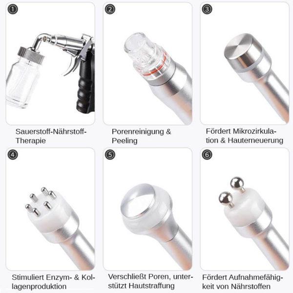 7 in 1 Multi Hydrodermabrasions Gerät - Peeling, Reinigung, Hautreparatur, Anti Aging - Beautywerkzeuge