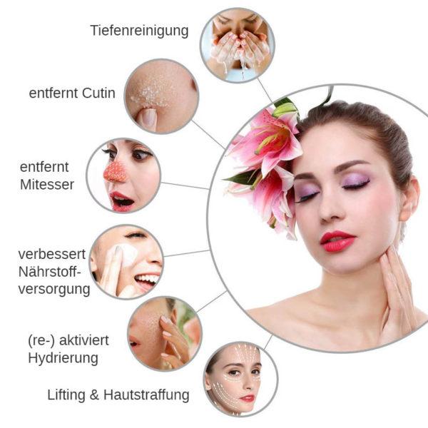 7 in 1 Multi Hydrodermabrasions Gerät - Peeling, Reinigung, Hautreparatur, Anti Aging - Effekte