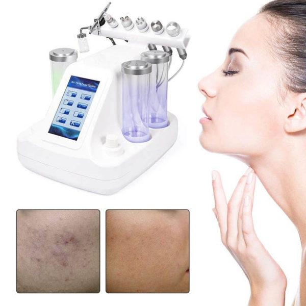 7 in 1 Multi Hydrodermabrasions Gerät - Peeling, Reinigung, Hautreparatur, Anti Aging - Hautverbesserung Beispiel