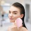 Elektrische Gesichtsmassagebürste Foreo - lila, Pulsmassage sensitive Anti Aging - Anwendung