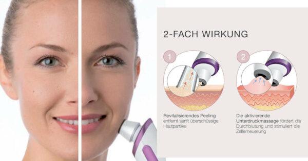 social - Peelinggerät FC 76 - besseres Hautbild, feinere Poren, zur Selbstanwendung, handlich