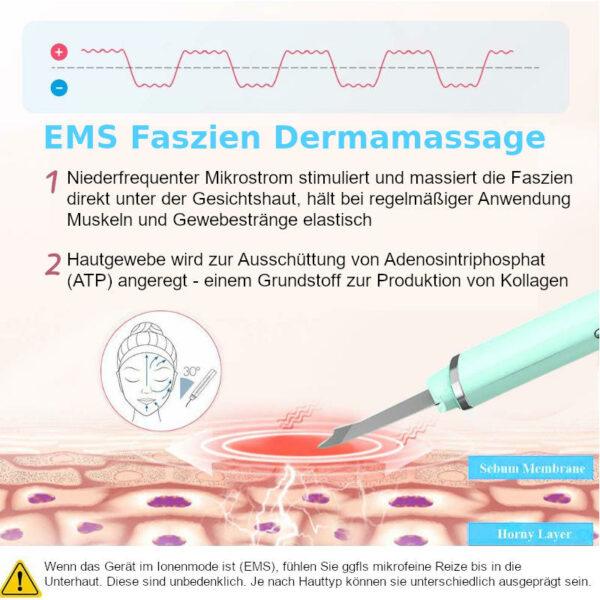 Ultraschall Peelinggerät - Ultraschall Porenreiniger - EMS Faszienmassage