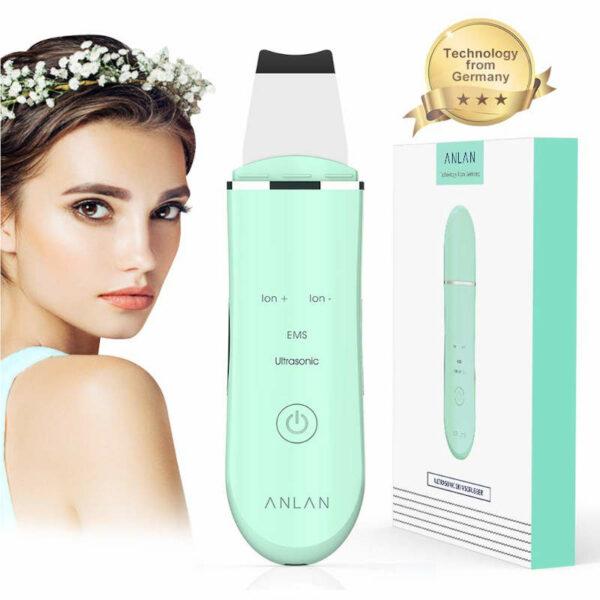 Ultraschall Peelinggerät - Ultraschall Porenreiniger - grün türkis - Frauen Geschenkidee