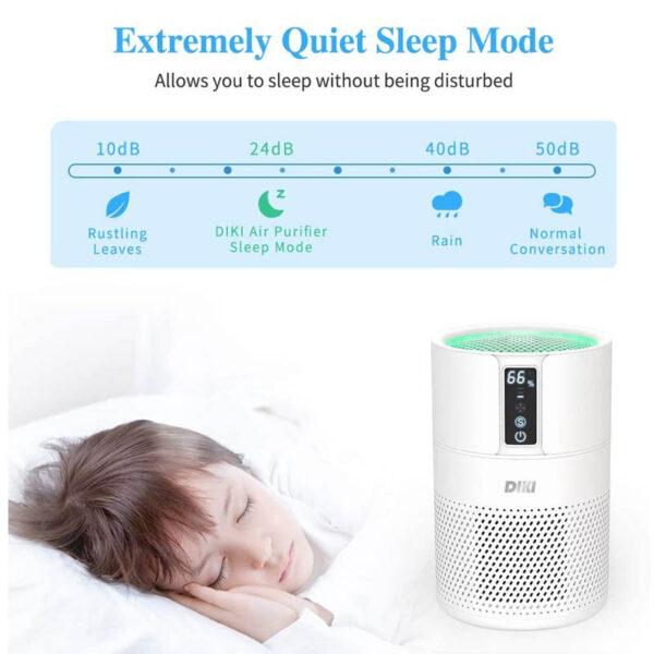 DIKI Air Purifier - Luftreiniger mit HEPA Filter - geräuscharm, Schlafmodus