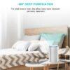 HIMOX Desktop Allergie Luftfilter – HEPA + Aktivkohlesystem - Allergiefilter für Schlafzimmer