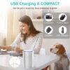 HIMOX Desktop Allergie Luftfilter – HEPA + Aktivkohlesystem - Luftfilter USB aufladbar