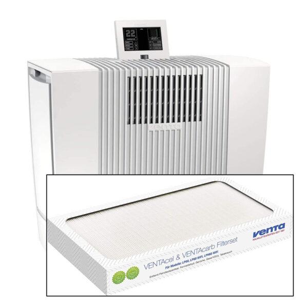 HighEnd Luftreiniger LP60 für Allergiker, Feinstaubsensor - LP60 Ultra Single, weiß - Luftreiniger + Ersatzfilter weiß