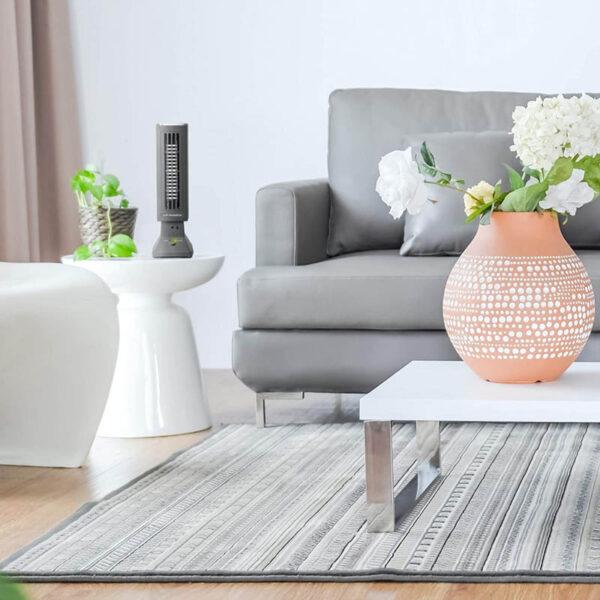 Tevigo 90690 Luftreiniger, Frischluftgerät - bis 45 qm, Ionisierer - Luftreiniger fürs Wohnzimmer
