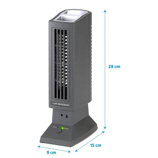 Tevigo 90690 Luftreiniger, Frischluftgerät - bis 45 qm, Ionisierer - kleiner Luftreiniger