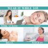 Halsfalten Pad - wiederverwendbar, Faltentherapie, nicht invasiv, ohne Chemie - Anwendung Bedienungsanleitung