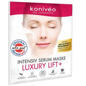 Koniveo Anti Aging Tuchmaske - aus hochdosiertem Hydrogel Serum - ohne Parabene