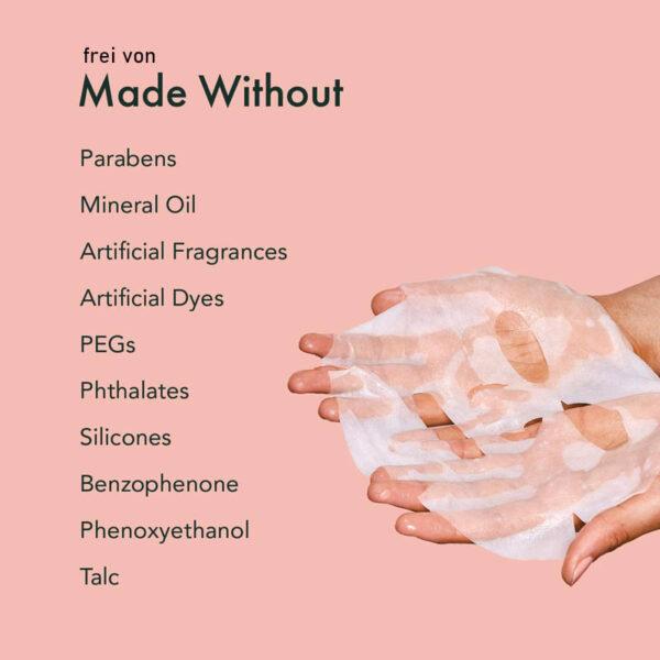 Rael Youth Island Kollagenmaske - hydrogelisiertes Kollagen - straffe Haut ohne Chemie