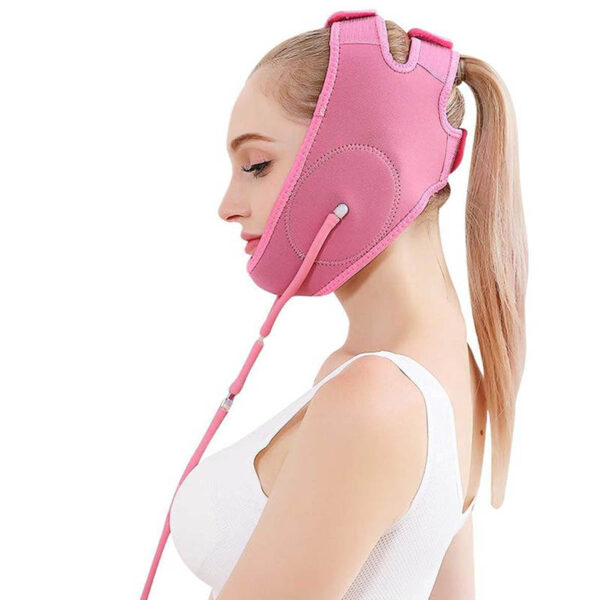 Facelifting Maske MYSHA-V - Abnehmmaske Wange Kinn, Luftkissenlifting - Seitenansicht