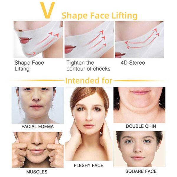 V- Gesichtslifting Maske, V Slimming Maske - Kinn und Wangen, gegen hängende faltige Haut - V Line Shape