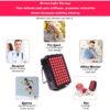 Rotlicht Therapiegerät - Kollagenaufbau, Gewebe-Muskelregeneration, Schmerztherapie - Infrarottherapie Anwendungen