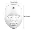 LED Gesichtsmaske - 7 Bandbreiten, Photonenbehandlung bei Akne, Falten, ergonomische Nasenform - Photonenmaske Abmessungen